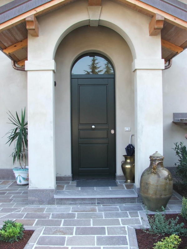 Porte d 39 ingresso in legno farb snc for Porte d ingresso